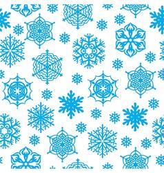 snow seamles vector image