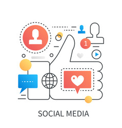 social media social network social marketing vector image