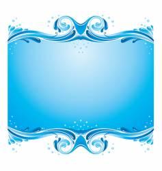Symmetric water splashes background vector