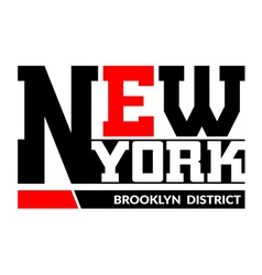 T shirt typography New York Brooklyn vector image