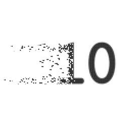 Ten digits text dispersed pixel icon vector