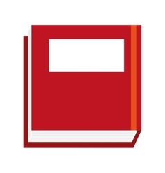 thick red book vector image