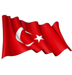 Turkye Flag vector image