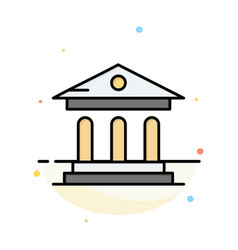 University bank campus court abstract flat color vector