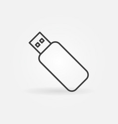 Usb flash drive outline concept icon or vector