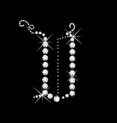 V letter vector image