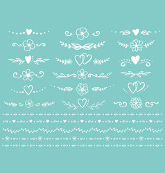 vintage dividers set vector image