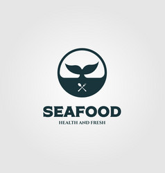 whale tale symbol for restaurant logo design vector image