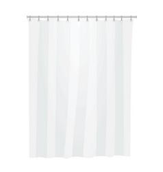 White bathroom curtain vector