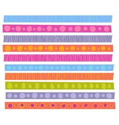 decorative patterns collection in cheerful color vector image vector image