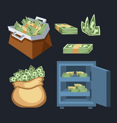 dollar paper business finance money stack symbols vector image vector image