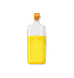 glass bottle filled with veegetable food oil vector image