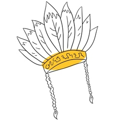 Native hat vector image vector image