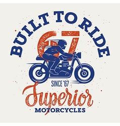Superior motorcycle 004 vector image