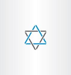 triangle star logo icon vector image vector image