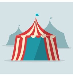 Vintage circus tent flat design vector image vector image