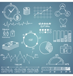 Business and finanse hand draw doodle elements vector image