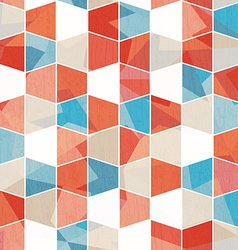 colored cell seamless pattern vector image