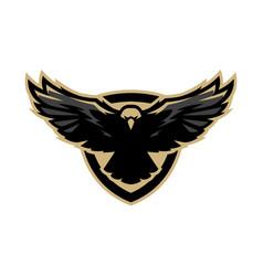 Eagle in flight logo symbol vector