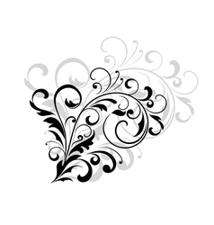 Floral design element with swirling leaves vector image vector image