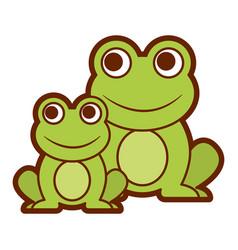 frogs cute animal sitting cartoon vector image