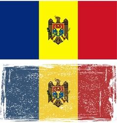 Moldovan grunge flag vector image