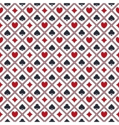 Seamless poker pattern vector image