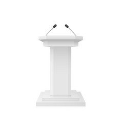white empty podium tribune stand with vector image