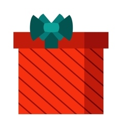 Gift open box icon vector image
