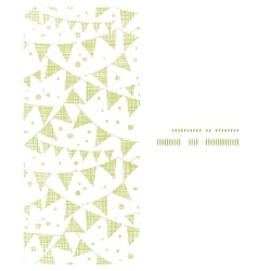 Green Textile Party Bunting Vertical Frame vector image