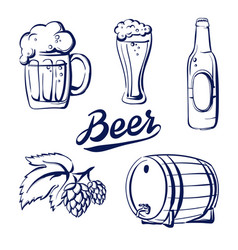 icon set beer vector image