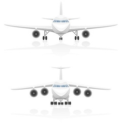 Airplane 01 vector