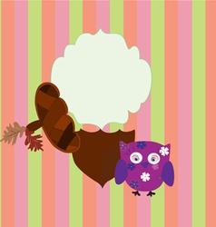 background children owl and acorn vector image vector image