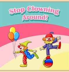 Clowns vector image vector image