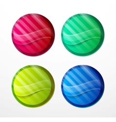 Colorful sticker set vector image