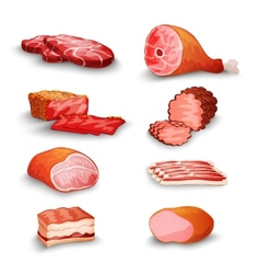 Fresh Meat Set vector image