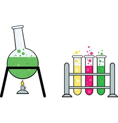Science equipment vector image vector image