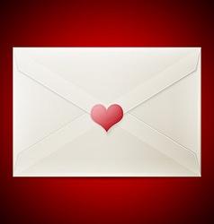 Valentine love letter vector image vector image
