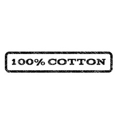 100 percent cotton watermark stamp vector image