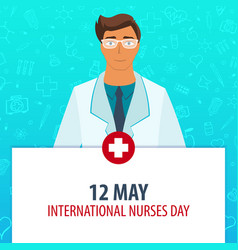 12 may international nurses day medical holiday vector image