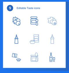 9 taste icons vector