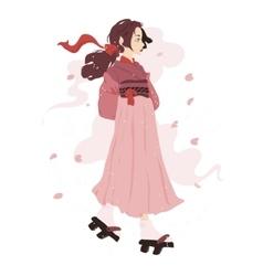 a japanese geisha vector image
