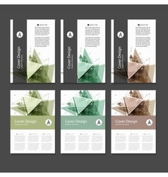 Abstract Triangle line Poster Brochure Flyer vector
