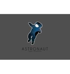 Astronaut logo Cosmic logo Stars and planet vector image