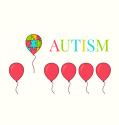 autism awareness balloon poster vector image