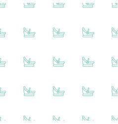 Baby basket icon pattern seamless white background vector