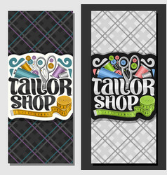 banners for tailor shop vector image