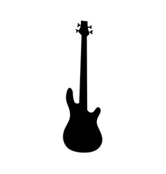 bass guitar silhouette vector image