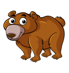 brown bear with happy face vector image