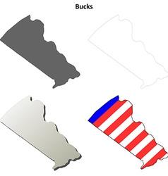 Bucks map icon set vector